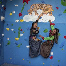 Walltopia climbing wall at Khumbu Climbing Center