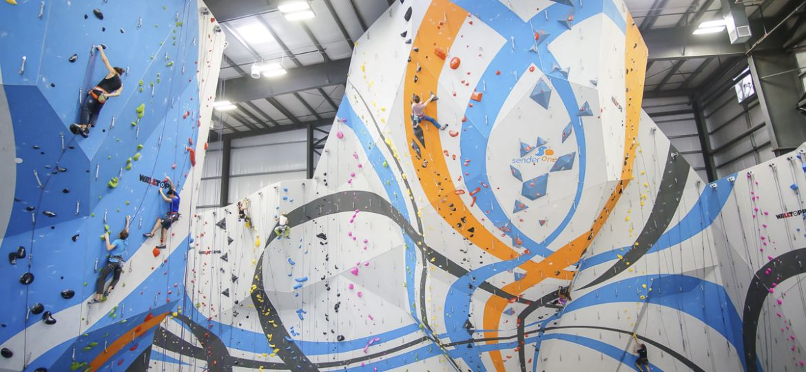 Walltopia climbing walls at Sender One Los Angeles