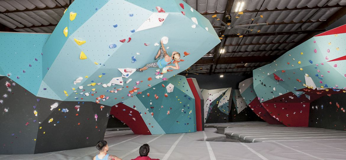 Touchstone Climbing Cliffs of Id bouldering gym climbing walls by Walltopia