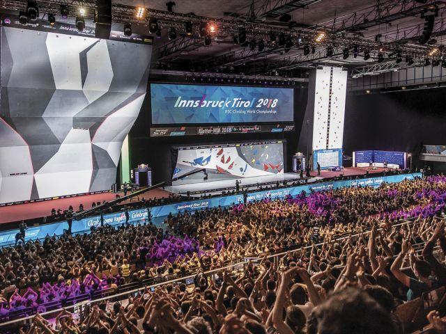 Walltopia climbing walls in Innsbruck World Climbing and Paraclimbing Championship 2018