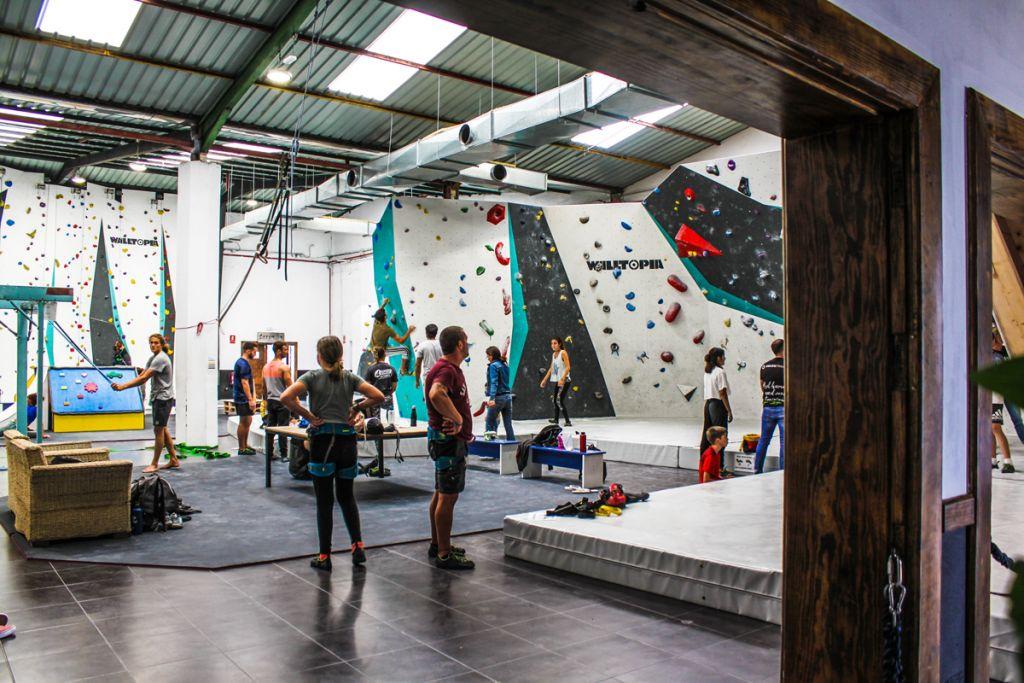 Walltopia climbing walls at Hang On, Lanzarotte