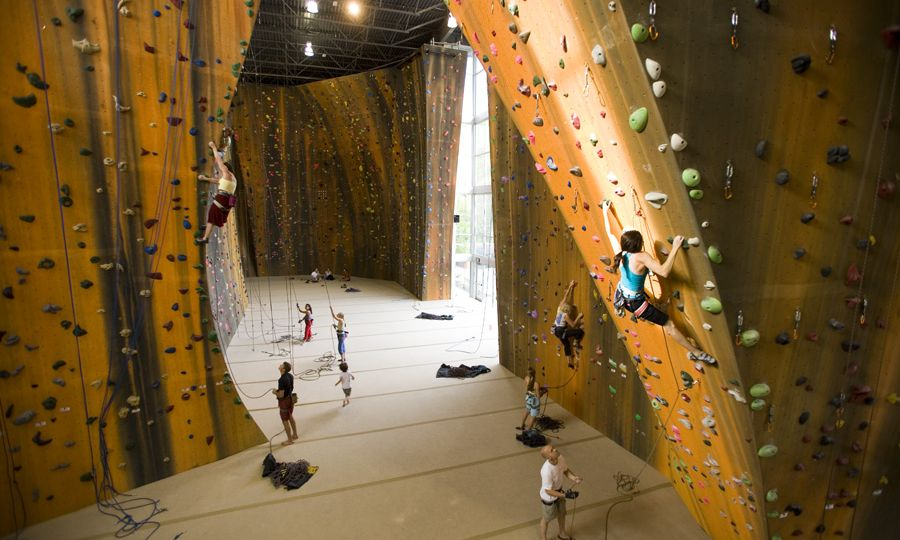 Walltopia climbing walls in Momentum Indoor Climbing Gym, Sandy Utah