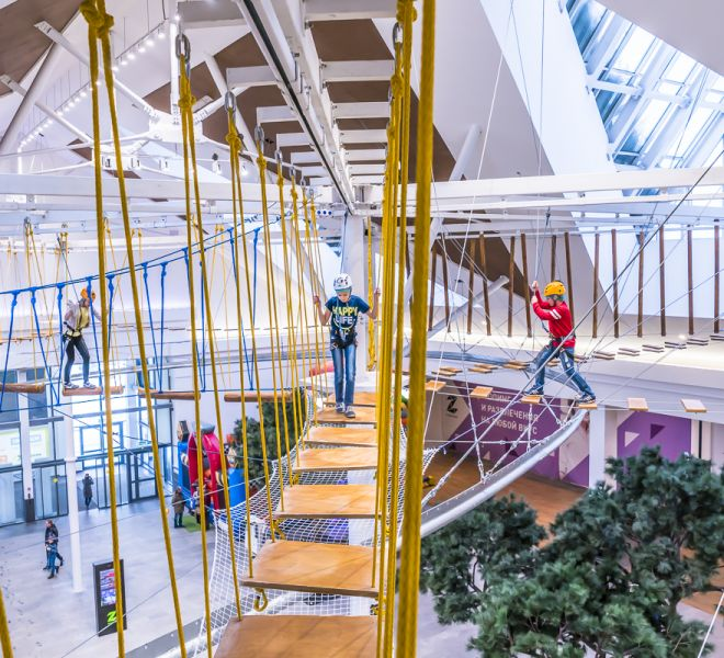 Ropes Course in a shopping mall